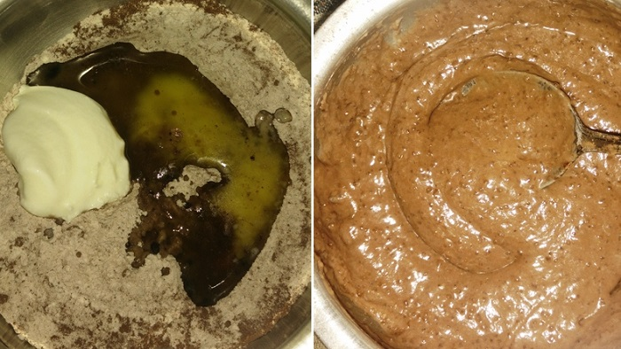 Eggless Molten Chocolate Lava Cake Recipe   Quick & Easy Desserts   Lava Cake   Molten Chocolate Cake written by Kavitha of Foodomania.com