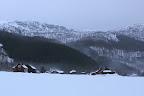 VILLE FANTÔME?Maison de bois inhabitées en hiver (Sud-Norvège)