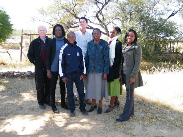 The DAC crew: Marion, Mesago, Watota, Rex, M. Mokoti, Nozi and Yvonne
