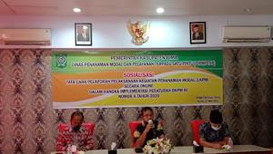 Sosialisasi Tata Cara Pelaporan Penanaman Modal LKPM Dinas DPMPTSP