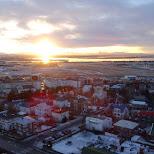 sunset in Iceland in Reykjavik, Hofuoborgarsvaeoi, Iceland