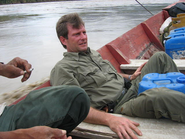 Henrik Bloch. Rio Beni près de Rurrenabaque (Bolivie), 21 janvier 2004. Photo : J. F. Christensen
