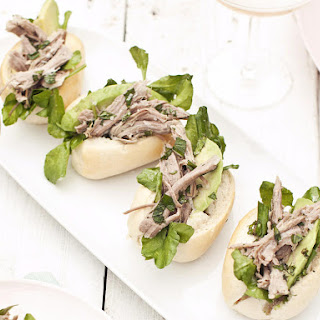 Slow Roasted Lamb Sandwiches with Homemade Mint Sauce
