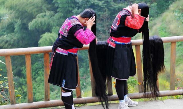 mujeres cabello largo yao huangluo