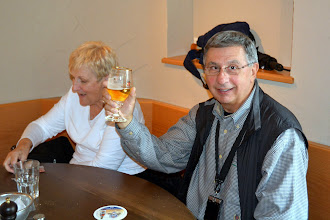 Photo: John and Joyce enjoying lunch
