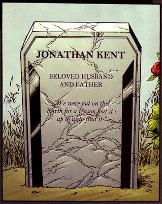 Jonathan Kent grave from Superman New Krypton 1