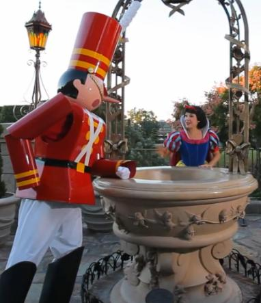A Disney Toy Soldier Trains for Mickey's Very Merry Christmas Party