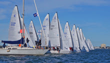 Davis Island YC race committee- starting J/70 sailboat race