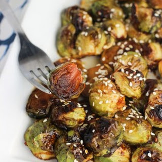 Honey Sesame Roasted Brussels Sprouts
