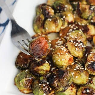 Honey Sesame Roasted Brussels Sprouts.