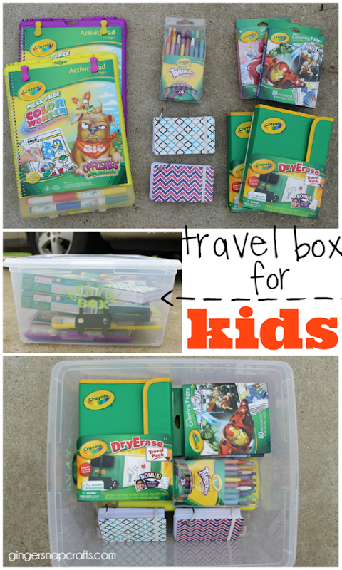 travel box for kids at GingerSnapCrafts.com #kids  #travel