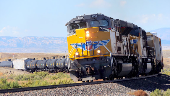 Union Pacific train eastbound