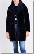 Claudie Pierlot Notch Lapel Shearling Coat