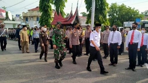Gelar Pasukan OPS Ketupat SGL, Polres Solok Kota Sudah Siapkan Tempat Kurungan Bagi Pelanggar Prokes