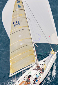 J/122 sailing off Perth, Australia