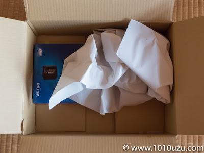 AmazonからスカスカでHDDが届いた
