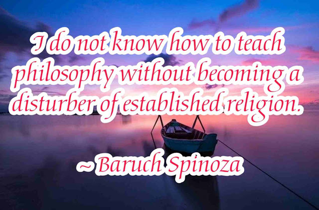 Baruch Spinoza  philosophy  Quotes