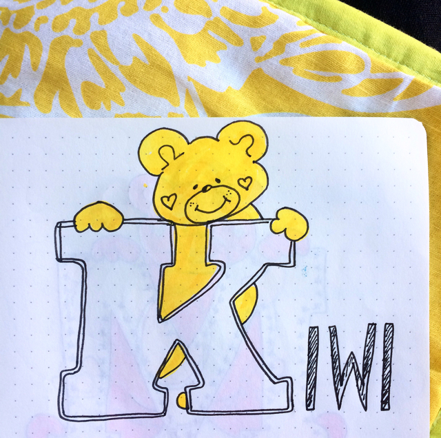 #100DaysOfDoodles | Day 49 | K for Kiwi | The 100 Day Project