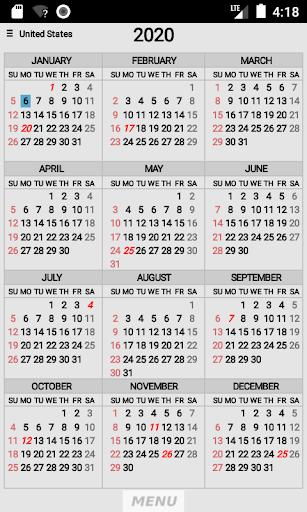 Wallet Calendar screenshots 1