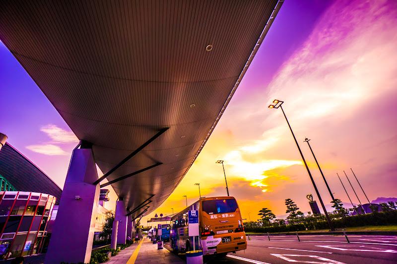 Takamatsu AIrport, sunset