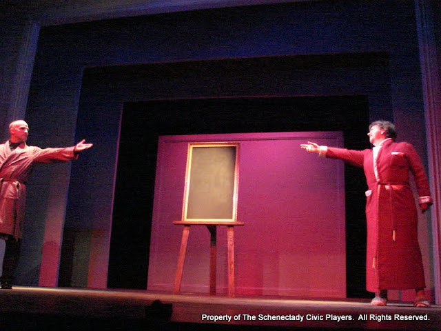 """Marty O'Connor and Susan Katz in """"Degas, C'est Moi"""" as part of THE IVES HAVE IT - January/February 2012.  Property of The Schenectady Civic Players Theater Archive."""