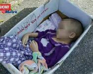 Budak 2 Tahun Ditinggal Dalam Kotak Tepi Jalan