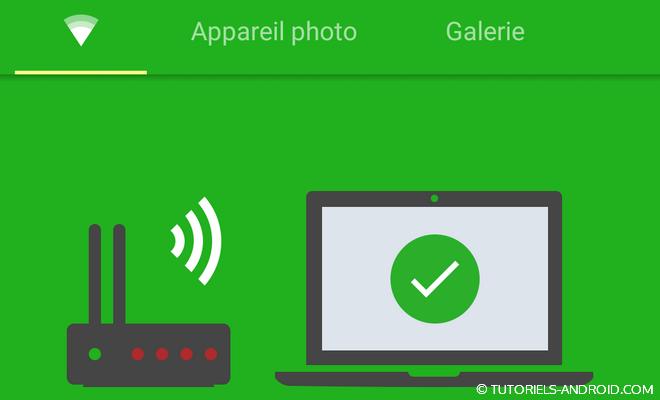 Transférer des fichiers vers son PC via Wifi
