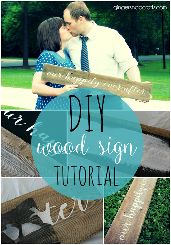 DIY wood sign tutorial at GingerSnapCrafts.com