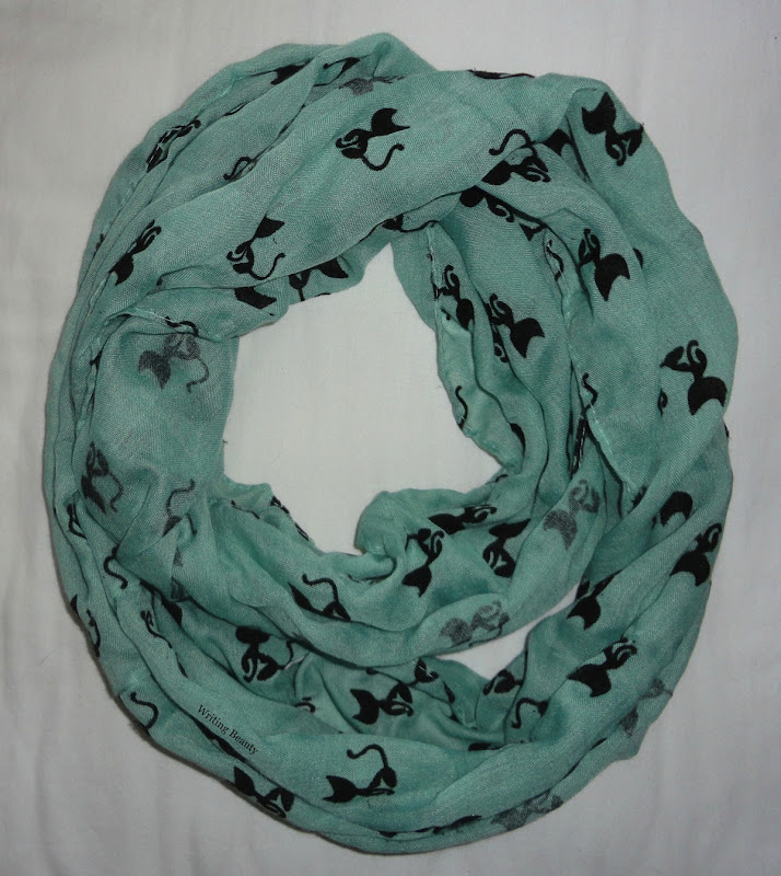 Modcloth Cat Person Circle Scarf in Mint 2