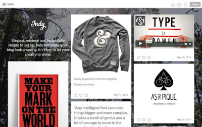 Indy бесплатный шаблон для Tumblr 2018