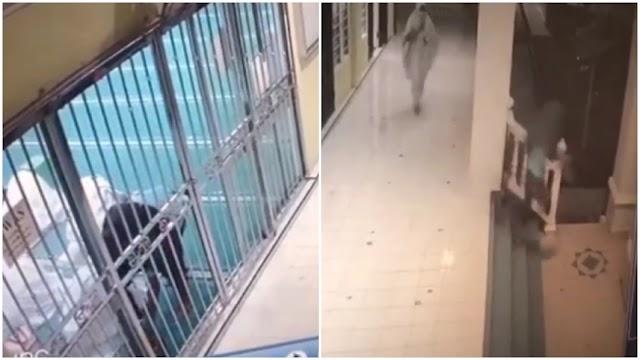 VIDEO - Jemaah wanita kejar pencuri beg tangan