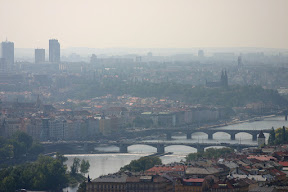 Prague skyline and the river Vitava