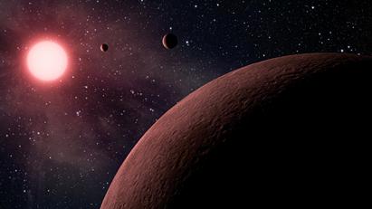 ilustração de exoplanetas orbitando sua estrela