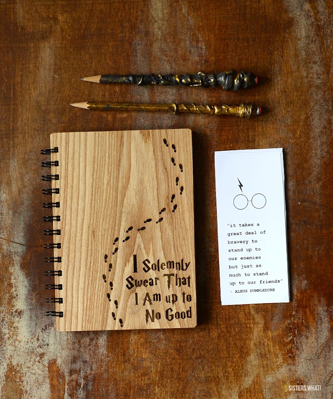 Harry Potter lasercut notebook printable art