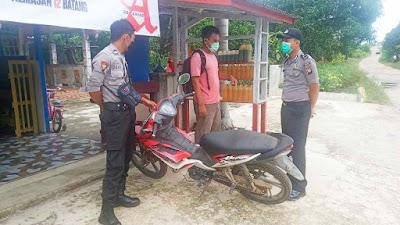 Polsek Belitang Patroli Dialogis dan Sampaikan Himbauan Protokol Kesehatan