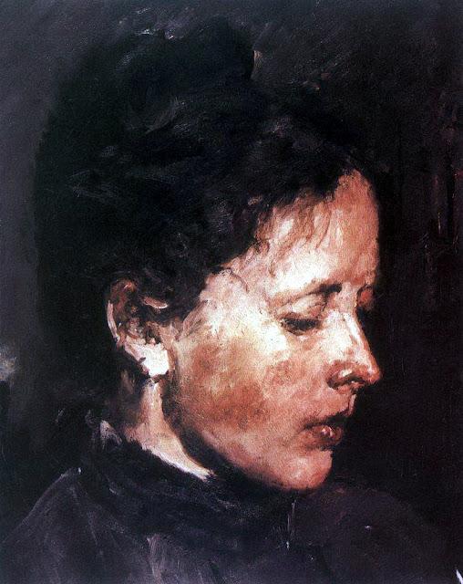 Valentin Serov - Portrait of Olga Serova