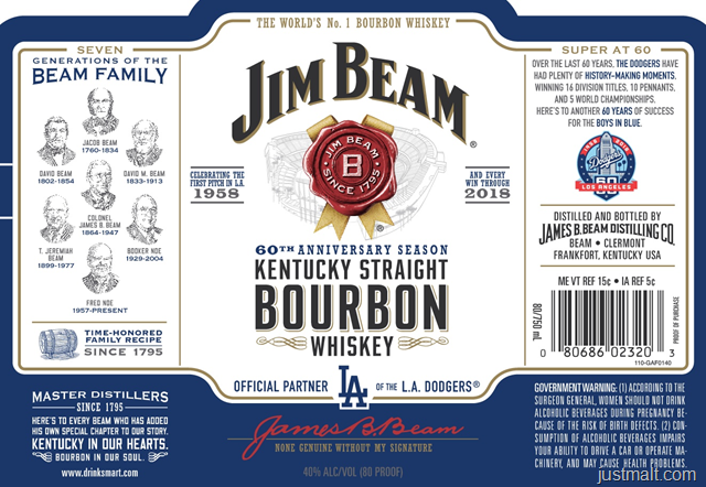 Jim Beam 2017 World Championship Edition Houston Astros, Milwaukee Brewers & LA Dodgers