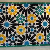 MILLE ET UNE ETOILES - Josiane Mariau - Piécé machine et quilté main - Reproduction d'une mosaïque de la Salle du Mexuar - Palais de L'Alhambra de Grenade - Espagne