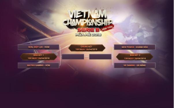 Lịch thi đấu vòng Chung Kết VCSB mùa hè 2018