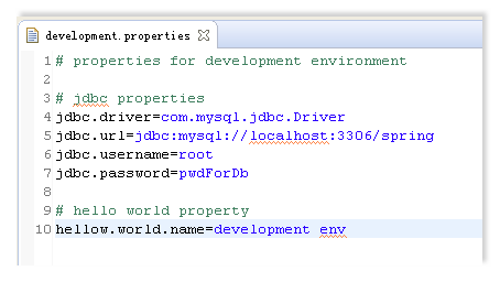 How to set development/test/production environment in spring