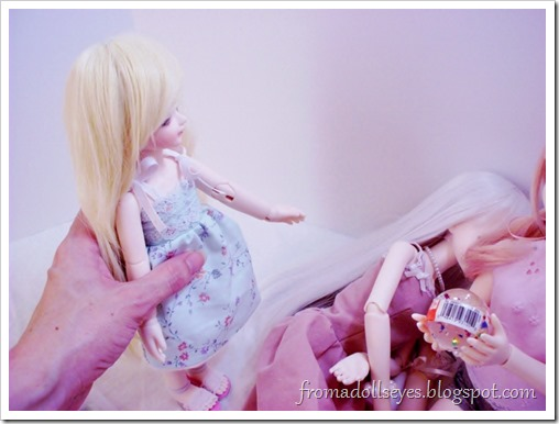 The doll fell over