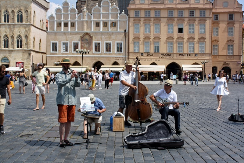 Buskers in Old Town Square, Prague