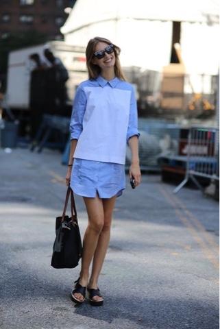 #shirtdress #tailoredshirt #dress #alfaiataria #streetstyle #modaderua #modelsoffduty #offduty