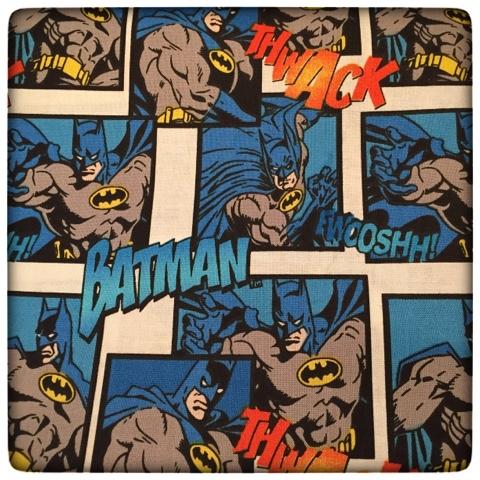 Batman Quilt Fabric on Thistle Thicket Studio. www.thistlethicketstudio.com