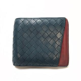Bottega Veneta Green & Red Bifold Wallet
