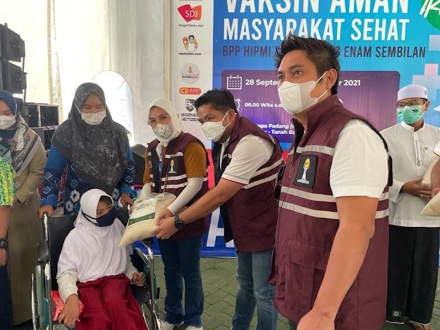 Ketum BPP HIPMI, Mardani H. Maming Hadiri Vaksinasi Ribuan Warga Tanah Bumbu