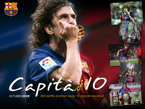 free desktop wallpapers 1024x768 download Carles Puyol sport Barcelona Spain