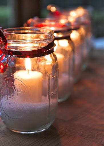 velas de natal em vidro reciclavel