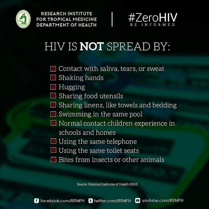 HIV CANNOT spread by..