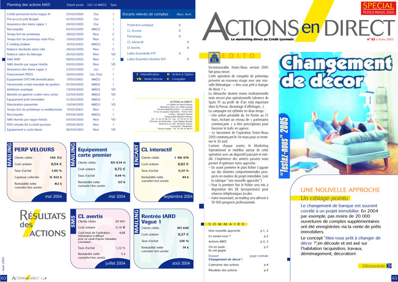 magazine CREDIT LYONNAIS 1 -SansException